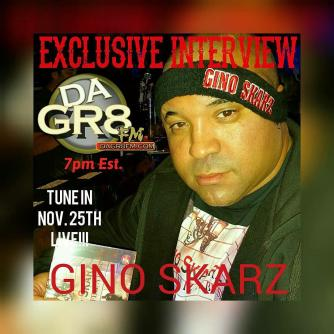 Gino Skarz Radio Interview Flyer 25NOV2016