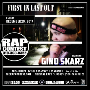 GinoSkarz-The Rap Contest Show Flyer-29DEC2017-