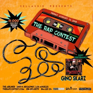 GinoSkarz-The Rap Contest Show Flyer-31AUG2018